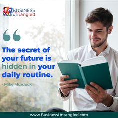 Develop healthy habits and you are well on your way to success! ☝️ 🏆 Let Business Untangled show you a few tricks to make it easier and faster!- you will even save money! 💰 😉 👌 Call us at 469-458-0447 or visit: www.businessuntangled.com . . . . #business_untangled #successmindset #successcoach #successtips #thursdaythoughts #mistakes #failures #TakingRisks Success Coach, Success Mindset, Mike Murdock, Take Risks, Healthy Habits, Mistakes, Saving Money, Routine, Things To Come