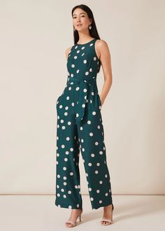 An occasion style that works overtime, this playful spotted jumpsuit is not only perfect for race days and wedding guests, but can be layered up or dressed down for work and weekends too. Phase Eight Wedding Jumpsuit, Lace Jumpsuit, Casual Jumpsuit, Edgy Outfits, Fashion Outfits, Rock Outfits, Couple Outfits, Christmas Party Outfits, Thanksgiving Outfit