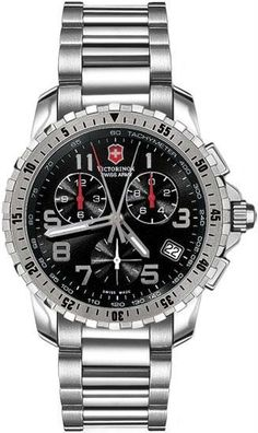 Swiss Army men's alpnach chronograph black dial stainless steel for $694. Get yours today.