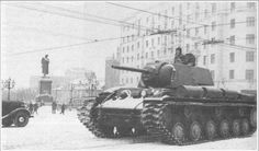 A small selection of photos of Soviet heavy tank KV-1 .