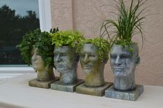 head planters I made  #headplanters #vases #headvases