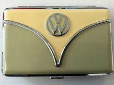VW Wallet/Business Card Holder-Avocado Green