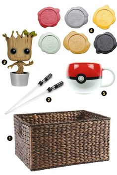 For the pop-culture enthusiast whose eclectic interests cannot be limited to one fandom, tie them over with merch until they attend their next con. This basket contains a geeky mélange of light saber chopsticks, a Poké ball mug, GoT-themed wax-stamp coasters, and a baby-Groot bobblehead to appeal to their unique sensibilities.