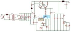 0-28V, 6-8A Power Supply circuit diagram using LM317 and 2N3055