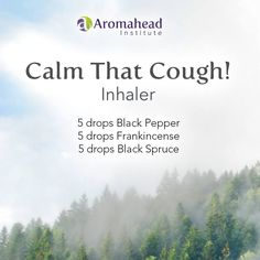 Black Pepper essential oil is one of my favorites for calming coughs. It's a great companion if you're dealing with spastic coughs that won't let you get out a full sentence.     This inhaler recipe combines Black Pepper with Frankincense and Black Spruce essential oils, both of which are excellent for coughs.