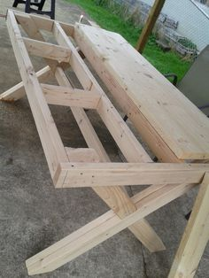 I had to share this AMAZING project my husband did. This picnic table with acooler in the middle is absolutely wonderful. It took my husban...