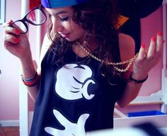 pretty girl swag obey shirts   Swag Girl Dope Glasses Snapback wallpaper