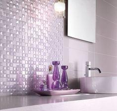 carrelage salle de bain rose pale