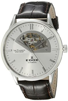 Men's Wrist Watches - Edox Mens 85014 3 AIN Les Vauberts Analog Display Swiss Automatic Brown Watch *** You can find more details by visiting the image link. (This is an Amazon affiliate link)