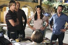 Still of Chris O'Donnell, Linda Hunt, LL Cool J, Eric Christian Olsen and Daniela Ruah in NCIS: Los Angeles (2009)