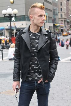 Outfit: On The Edge For Fall w/ #Mackage - full set on VeeTravels.com - #menswear #mensfashion #style #biker #jacket #camo