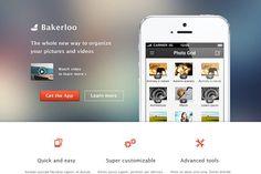 Bakerloo theme - App Landing Page by michallangmajer on @creativemarket