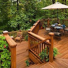 Beautiful Transition to Backyard Landscaping :: Hometalk.  This looks a lot like the style that my Brother-in-law designed for their house(s) in OKC, cabin in MO & lake house in Okeema.  Just beautiful!