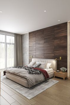 The Meaning of Wooden Panel Ideas For Walls Bedroom Ombre painted walls offer you a whole lot of flexibility with regard to design. After all, bedroom divider walls aren't just practical ways to separate a room, they're also a crucial… Continue Reading → New Bedroom Design, Home Room Design, Interior Design, Bedroom Wall, Bedroom Decor, Bedroom Furniture, Furniture Ideas, Wooden Wall Panels, Stylish Bedroom