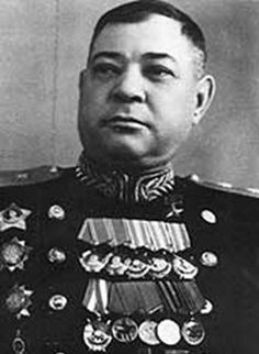 """Guards Lieutenant-General Baranov Victor Kirillovich (1901 - 1970) a Soviet military commander, a participant in the Civil and the Great Patriotic (WWII in Russia) wars, the Hero of the Soviet Union. Commanded of the 5th (later - the 1st Guards) Cavalry Division (1941-1942) and the 1st Guards Cavalry Corps (1942-1945, the Upper-Silesian and the Berlin offensive operations). Order """"Legion of Merit"""" (USA) and Distinguished Service Order (UK)."""