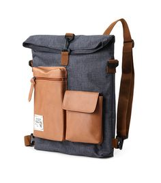 Slander City Backpack Backpack (Grey) -- interesting design, like the free-form… Backpack Bags, Leather Backpack, Leather Bag, My Bags, Purses And Bags, Transporter, Backpacker, Fashion Bags, Fashion Backpack