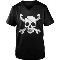 Awesome Sailing Lovers Tee Shirts Gift for you or your family member and your friend:  Grunge Pirate Skull N Crossbones T Shirt Tee Shirts T-Shirts