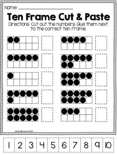 This includes everything you need to help your student practice their number sense with tens frames. There are practice sheets for numbers 0-20. There are also two hands-on activities: tens frame matching and tens frame war. Both can be played as an indep