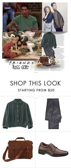 """Friends: Ross Geller"" by priscilla12 ❤ liked on Polyvore featuring ASOS, DKNY, Hush Puppies, women's clothing, women, female, woman, misses, juniors and friends"