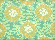 Amy Butler fabric-coreopsis aqua/ with yellow