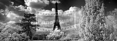 Infra Red image of the Eiffel Tower, Paris Red Images, Panoramic Images, Tower, Paris, Beautiful, Lathe