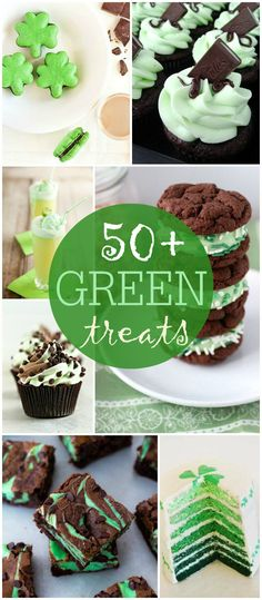 50+ Green Treats perfect for St. Patrick's Day { lilluna.com } A yummy collection of all different kinds of treats!
