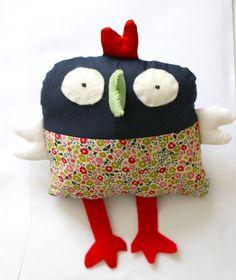 """Cocotte DIY Liberty, coton, feutrine Inspiré de """"Doudous à coudre"""" Todo List, Diy Baby, Fabrics, Crochet Hats, Sewing, My Love, How To Make, Kids, Inspiration"""