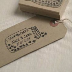 jar of hearts save the date stamp by beautiful day | notonthehighstreet.com