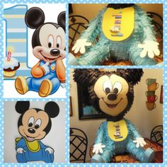 Baby Mickey Mouse Pinata - First Birthday