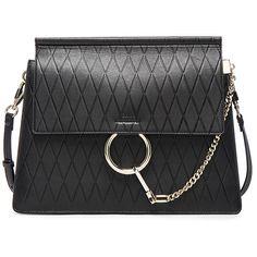 Chloe Medium Diamond Embossed Faye Bag (1.028.345 CLP) ❤ liked on Polyvore featuring bags, handbags, bolsas, chloe, embossed bag, hardware bag, diamond bag, embossed purse and chloe bag