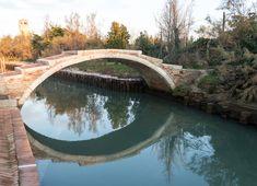 Bridge on Torcello, Venice, Italy Venice Italy, Bridge, River, Architecture, Outdoor Decor, Photography, Arquitetura, Photograph, Fotografie