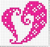Simple but pretty Cross Stitch Heart, Cross Stitch Cards, Cross Stitching, Cross Stitch Embroidery, Knitting Charts, Knitting Patterns, Crochet Patterns, Cross Stitch Designs, Cross Stitch Patterns