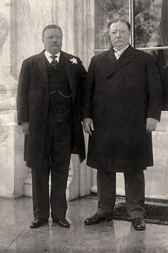 Theodore Roosevelt with incoming President William Howard Taft on Taft's inauguration day in 1909. Roosevelt picked Taft to be his successor in the Republican party and endorsed his election as president. Roosevelt left the White House believing that Taft would continue activist progressive policies as the new President. Such was not to be the case.