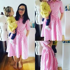 We adore this pink gingham dress by @rocco.sienna on #Instagram. How cute will…