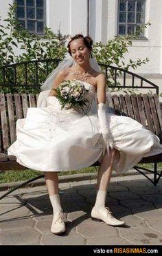 Ilusión óptica en la boda.