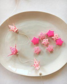 Guirlande Origami - Grue - Étoile - Papier Japonais