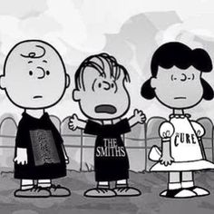 Peanuts go goth. love it! This Charming Charlie | cartoon cross-over | mash-up |