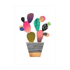 Happy Cactus Art Print