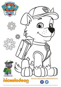 Paw Patrol coloring pages - bilder - Sky Paw Patrol, Paw Patrol Rocky, Paw Patrol Cake, Paw Patrol Party, Paw Patrol Birthday, Paw Patrol Coloring Pages, Coloring Book Pages, Coloring Sheets, Adult Coloring