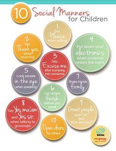 Social etiquettes for kids