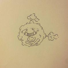 Koffing #pokemon #inktober #fanart #art #draw #drawing #illustration #nintendo #videogame #anime #manga #sketch #doodle