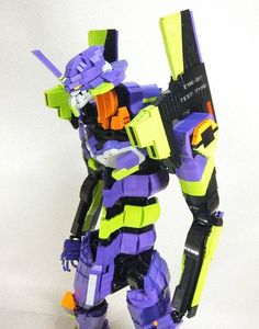 A Lego construction of an Eva from Neon Genesis Evangelion #anime #mecha