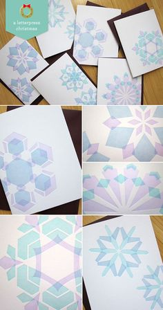 Letterpress Snowflake Cards by Studio SloMo (via Paper Crave) Snowflake Cards, Snowflakes, Textile Patterns, Print Patterns, Textiles, Holiday Cards, Christmas Cards, Very Merry Christmas, Xmas