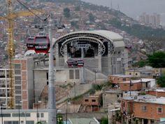 Metrocable in San Agustín, Caracas, Venezuela
