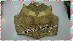#Gold #collar perfect for plain sarees