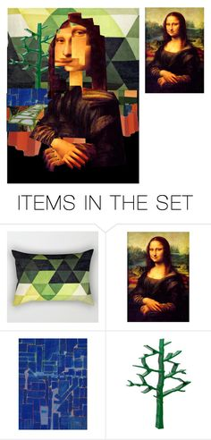 """""""Cubistic Mona Lisa ft. paul Klee"""" by synkopika ❤ liked on Polyvore featuring art"""