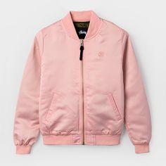 Stüssy Union Bomber Blush #stussy #bomber #pink #lovepink