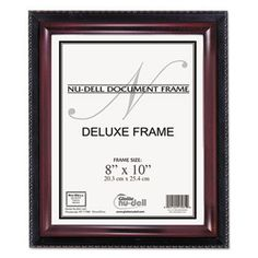 Executive Document Frame, Plastic, 8 X 10, Black/mahogany