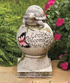 Stone Turtle Garden Statue