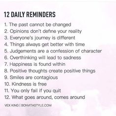 self care: 12 Daily Reminders happy life happiness positive e. The Words, Positive Quotes For Life Encouragement, Health Mantra, Health Motivation, Monday Motivation, Affirmations, Quotes To Live By, Life Quotes, Daily Quotes